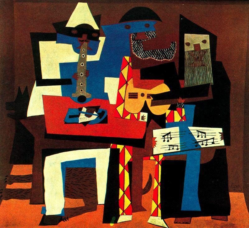 """""""Los tres músicos"""" de Picasso"""
